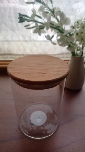 ニトリのガラスキャニスター