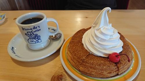 コメダ珈琲 江別一番町店で食べたシロノワール