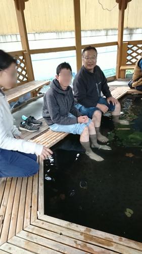 足湯の温泉