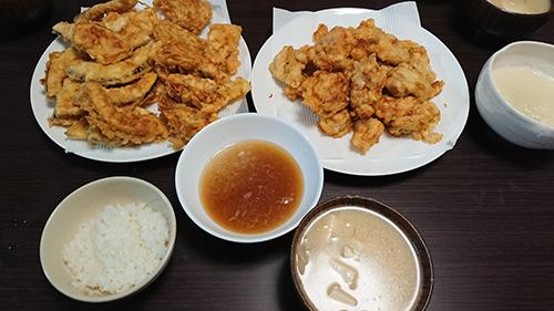 今日の晩ごはん 天ぷら