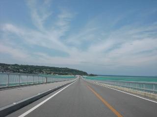 古宇利島までの橋で