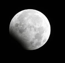 元日の月食