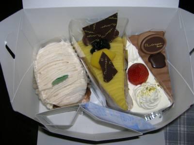 リバージュのケーキ