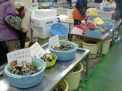 五味の市 牡蠣の販売
