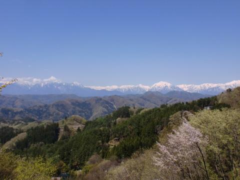 芦ノ尻の道祖神からの景色