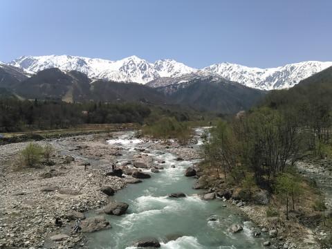 川とアルプス