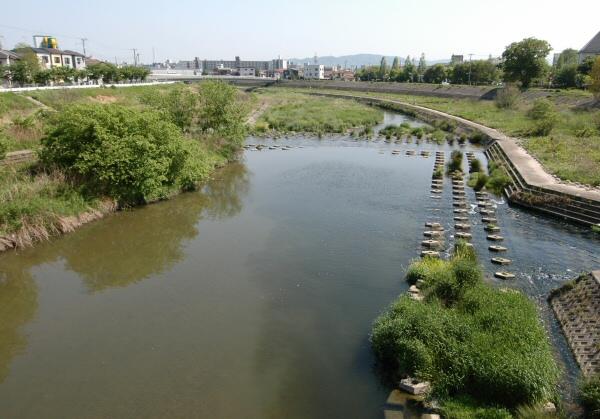 明石川新玉津橋からの風景