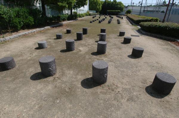 柱の竪穴跡表示