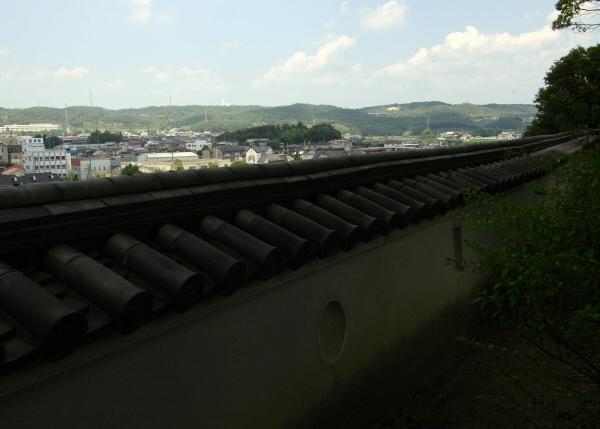 城壁から平井山を望む