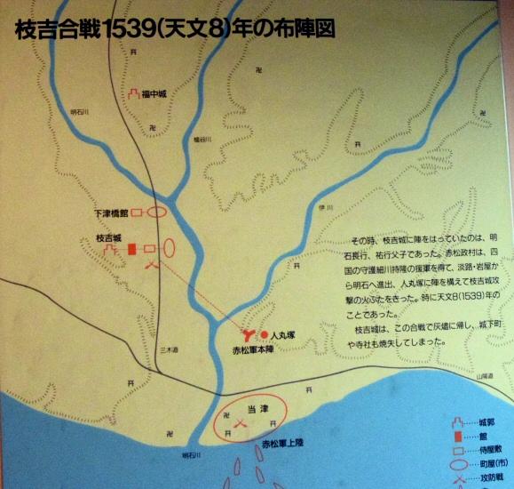 枝吉合戦説明図