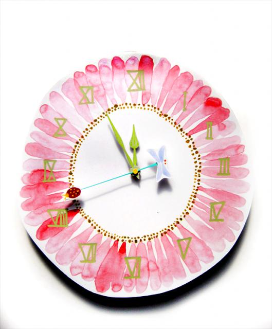 ガーベラ壁時時計