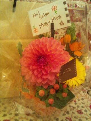 先生からのお花