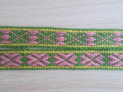 桜の模様のバンド織り