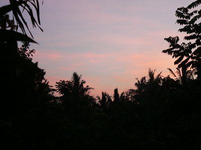 バリ島の夕方