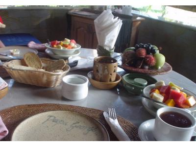 バリ島ビラの朝食