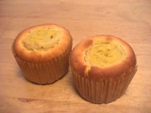 スイートポテトのカップケーキ