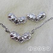 arachnoid heart(シルバー)ネックレス・ピアス