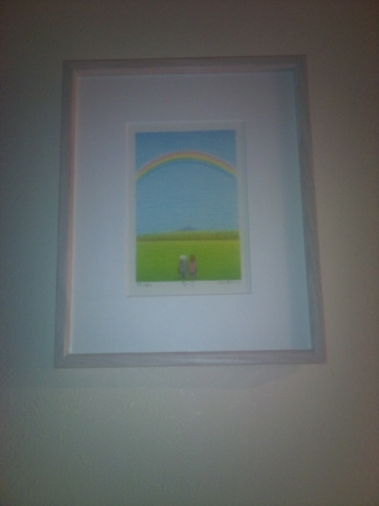 8b0f201230ee ご新郎様のお父様がプロの版画家さんでそのお父様が制作された版画をいただいてしまいました