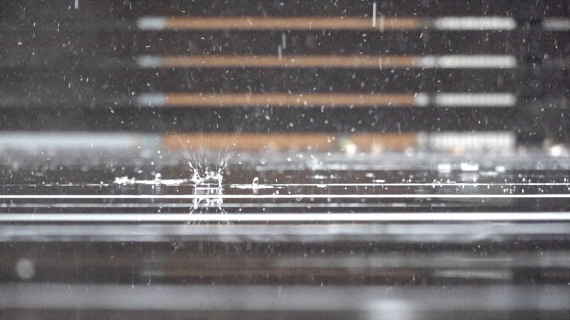 雨をHFR撮影