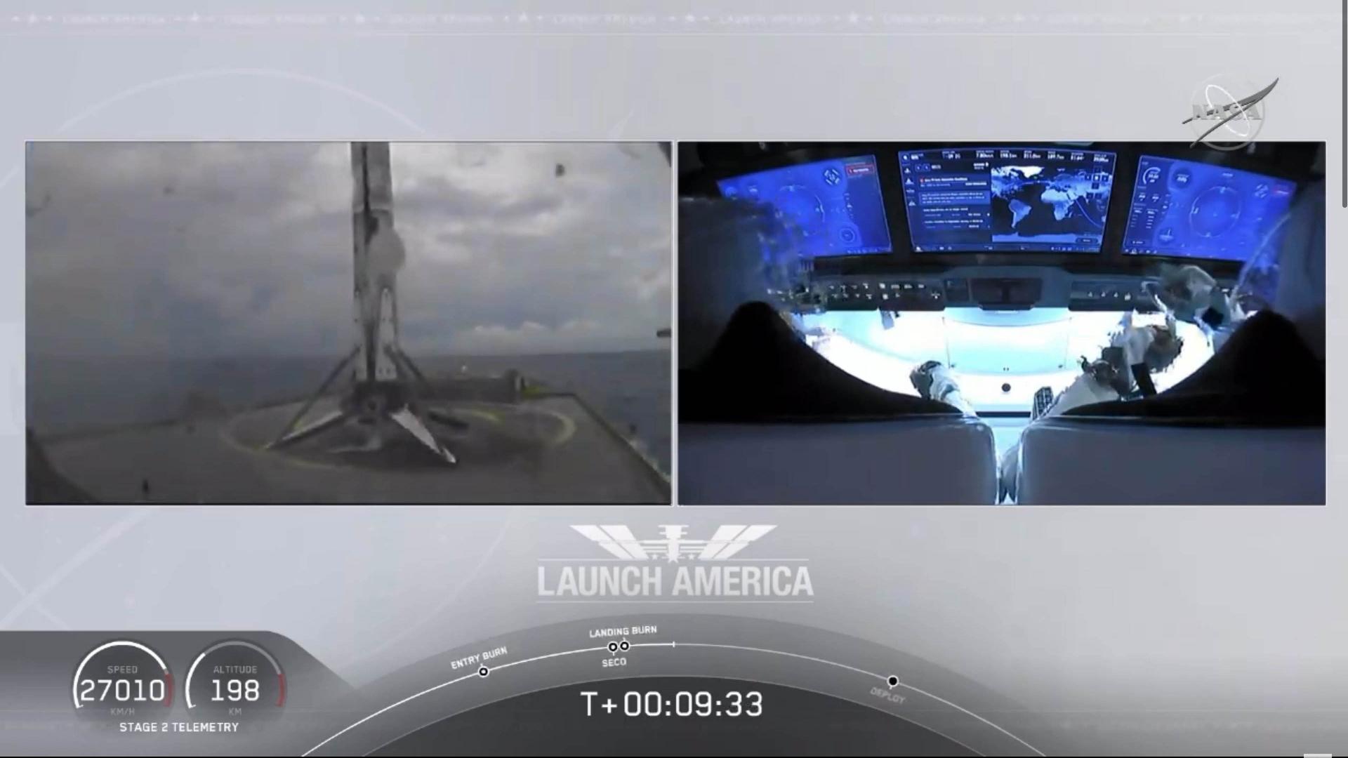 1段ロケット着陸