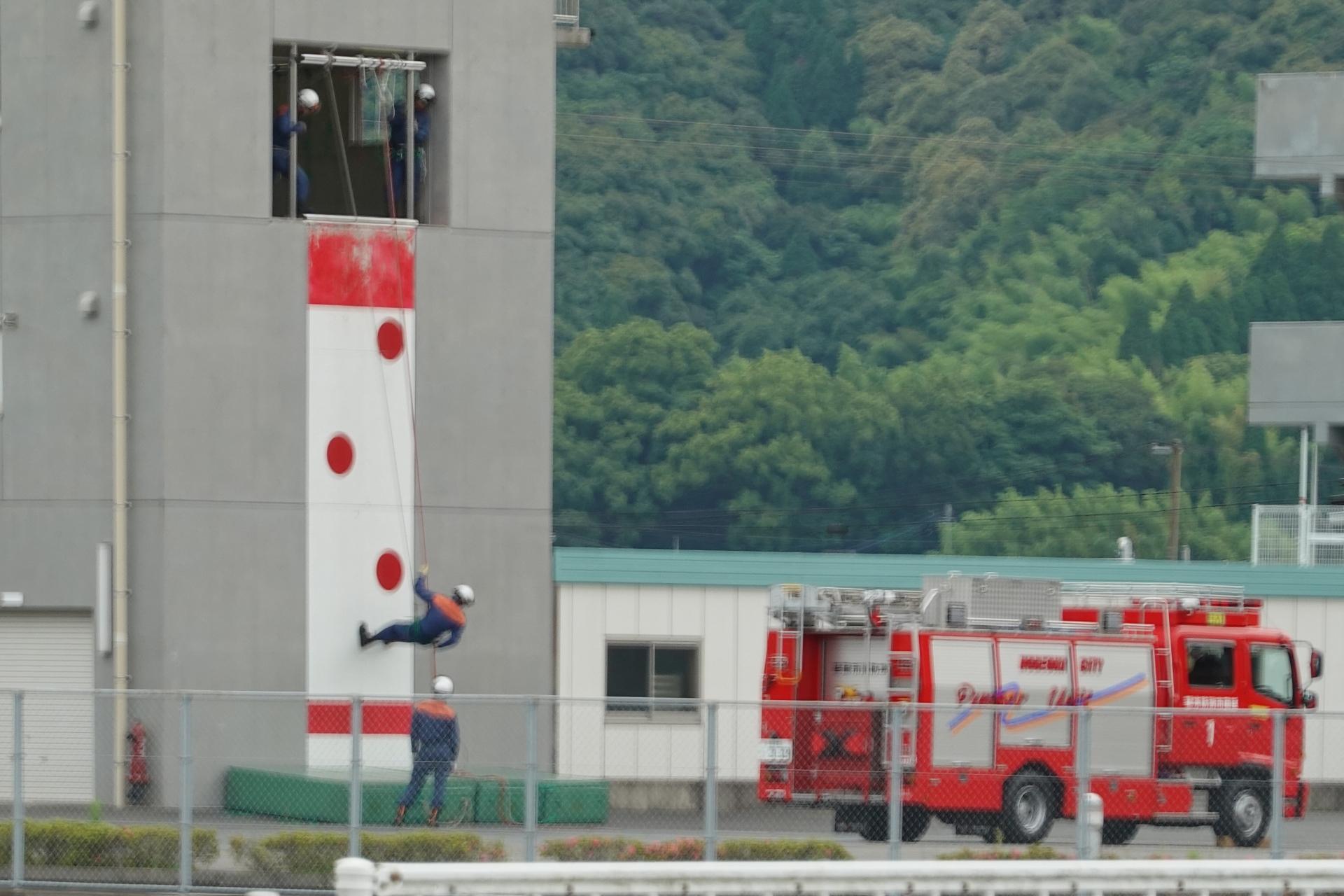 消防署の訓練