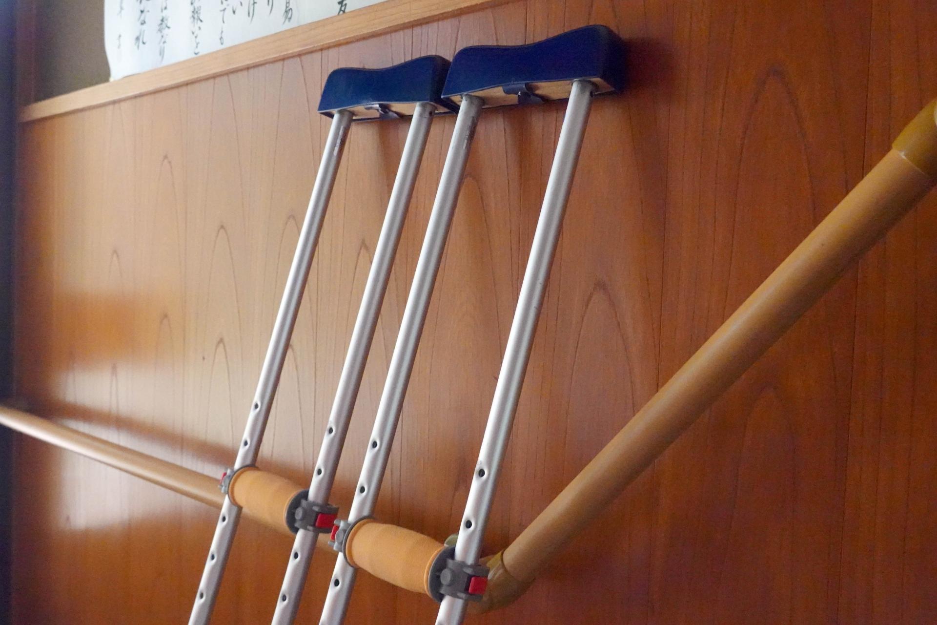 改造後の松葉杖