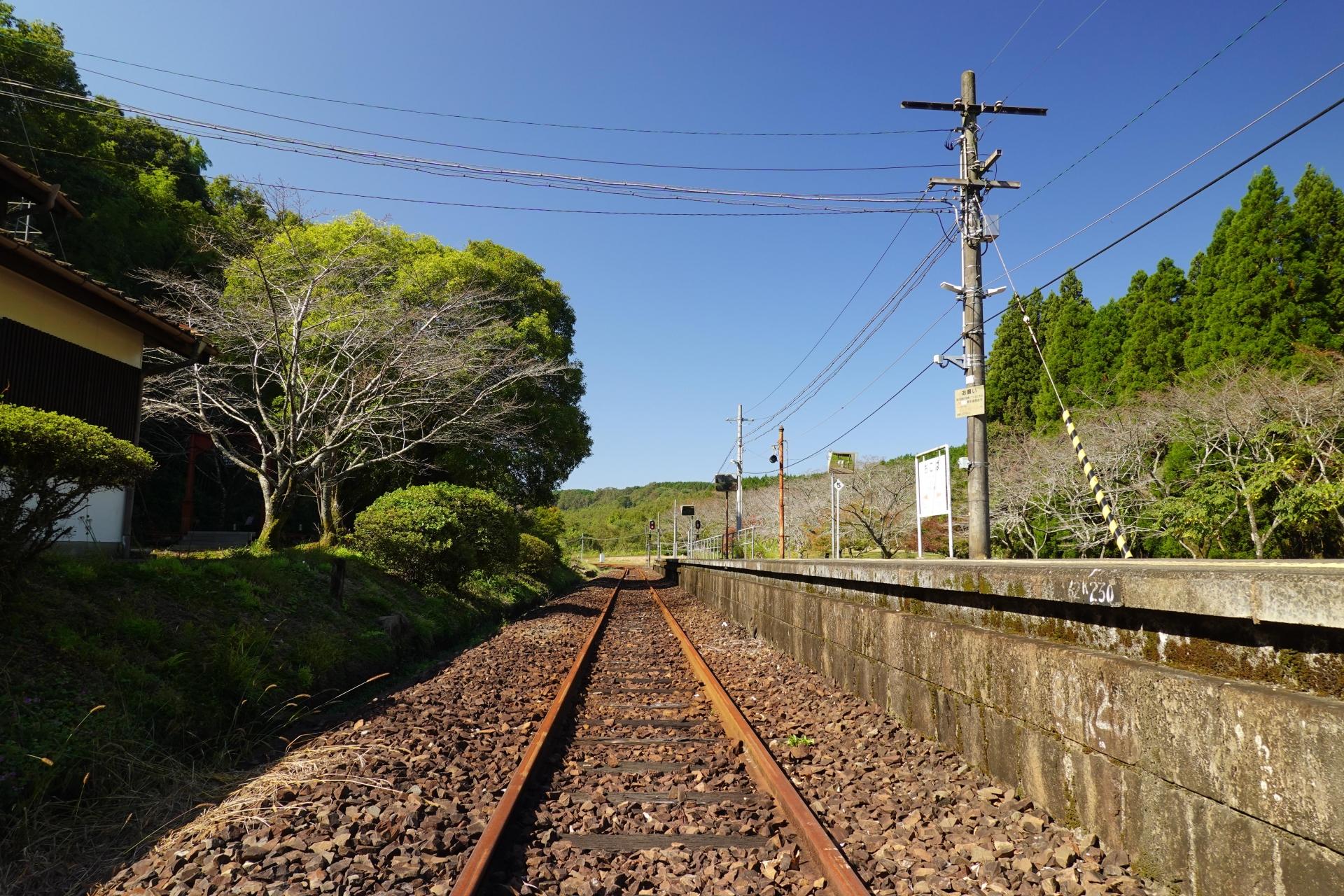 大畑駅線路