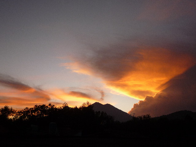 アンティグアでの夕焼け1