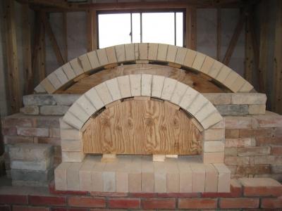 石窯アーチ部分