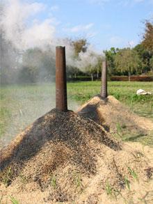 くん炭作り