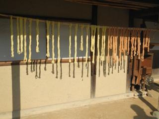 夏みかんの葉と綿の根で染めた糸