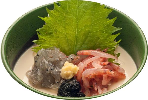 生桜海老と生しらすの冷製豆腐