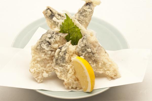 季節の天ぷら 秋鯖と秋刀魚・鰯