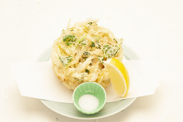 白魚と玉葱のかき揚げ