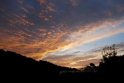 秋の夕焼け空