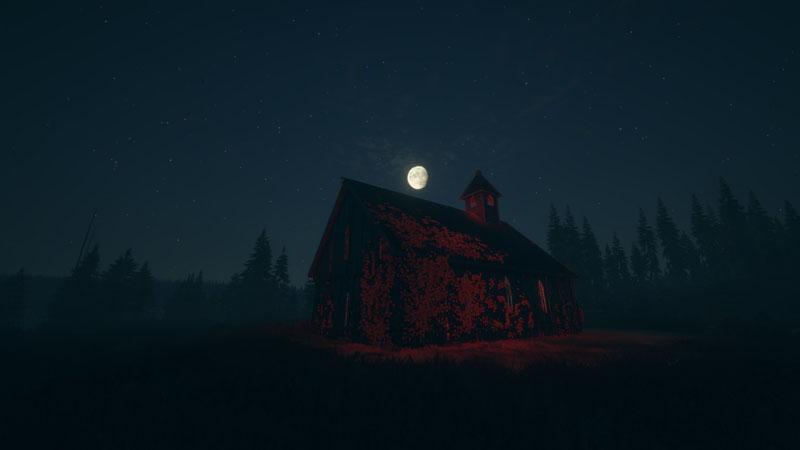 真夜中の廃教会