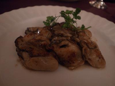 ブランドゥブラン 牡蠣ソテー