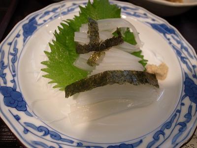 美禄 魚定食 いか刺し
