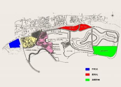 出資予定の市有地と県有地