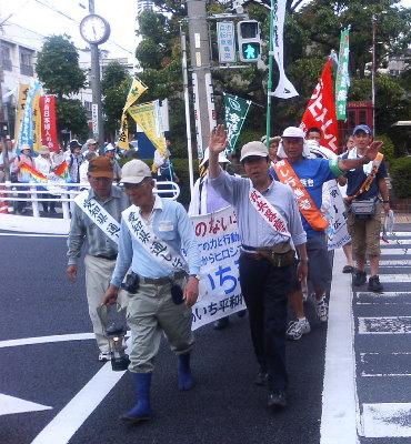 県下で一番長い「豊橋−蒲郡コース」を歩く平和行進団