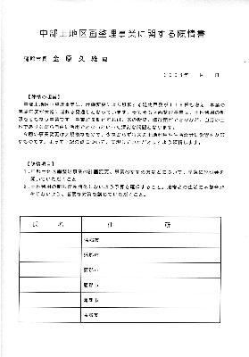 区画整理・陳情署名