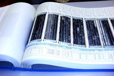 入手した膨大な設楽ダムボーリング調査資料