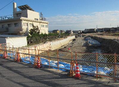 羽栗池東区画整理の調整池