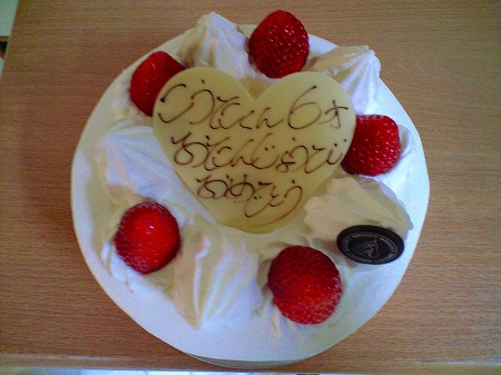 6歳のバースディケーキ