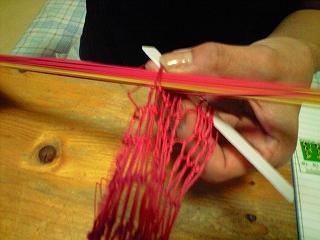 編むのも慣れてきた