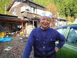 「木の小屋」の、おじちゃん