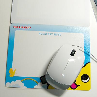 メモ帳ノート付・マウスパット