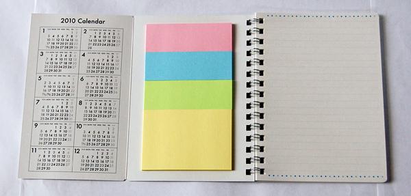 メモ帳&ふせん付きカレンダー