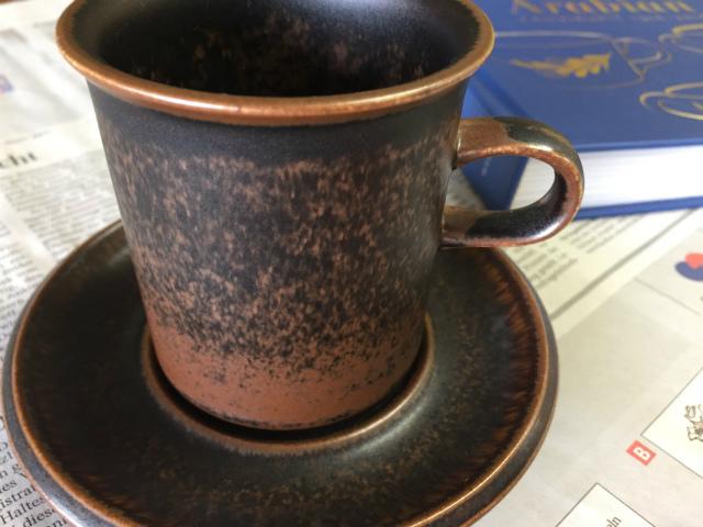 アラビア コーヒーカップ ソーサー ルスカ ブラウン グラデーション