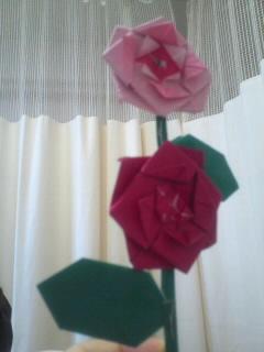 娘からの折紙の花